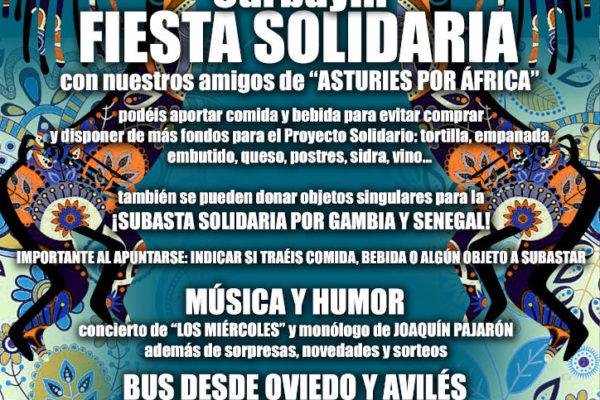 Cartel fiesta solidaria Carbayín